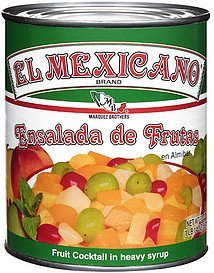 fruit cocktail in heavy syrup El Mexicano Nutrition info