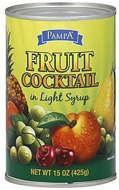 fruit cocktail in light syrup Pampa Nutrition info