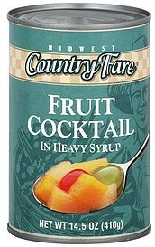 fruit cocktail Midwest Country Fare Nutrition info