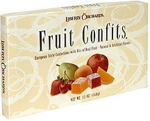fruit confits Liberty Orchards Nutrition info