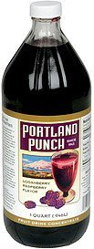 fruit drink concentrate loganberry, raspberry flavor Portland Punch Nutrition info