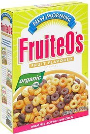 fruit-e-o's organic, fruit flavored cereal New Morning Nutrition info