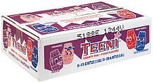 fruit flavored drinks orange, grape, fruit punch, blue raspberry Teeni Nutrition info