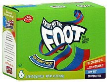 fruit flavored snacks berry berry twist Fruit By The Foot Nutrition info
