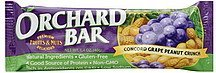 fruit & nut bar concord grape peanut crunch Orchard Bar Nutrition info
