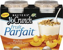 fruit parfait yo crunch peach Breyers Nutrition info