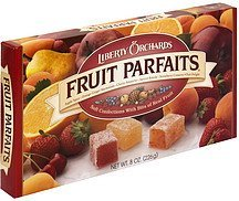 fruit parfaits assorted Liberty Orchards Nutrition info