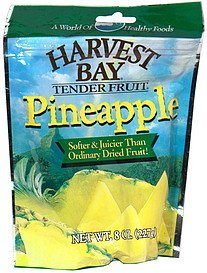 fruit pineapple, dried Harvest Bay Nutrition info