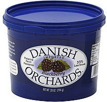 fruit preserves premium, blackberry Danish Orchards Nutrition info