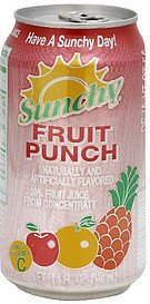 fruit punch Sunchy Nutrition info