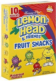 fruit snacks assorted flavors Lemon-Head & Friends Nutrition info