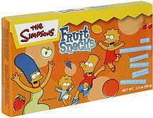 fruit snacks The Simpsons Nutrition info