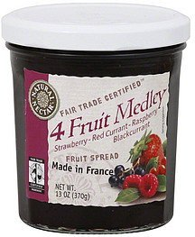 fruit spread 4 fruit medley Natural Nectar Nutrition info