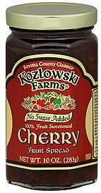 fruit spread cherry Kozlowski Farms Nutrition info