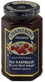 fruit spread deluxe, red raspberry Chantaine Nutrition info