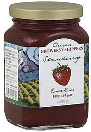 fruit spread pinot noir, strawberry Oregon Growers & Shippers Nutrition info