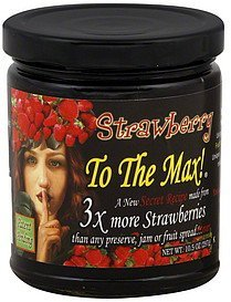 fruit spread strawberry Fruit To The Max! Nutrition info