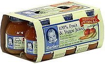 fruit & veggie juice apple sweet potato Gerber Nutrition info