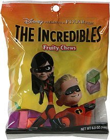 fruity chews the incredibles Imagination Confections Nutrition info