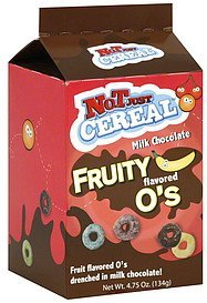 fruity o's milk chocolate flavored Not Just Cereal Nutrition info