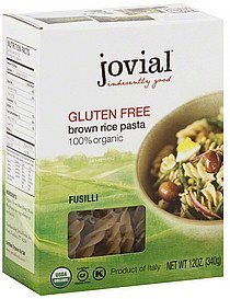 fusilli brown rice Jovial Nutrition info