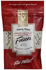 fusion arborio & wild rice risotto, family blend Goose Valley Nutrition info