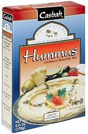 garbanzo bean dip mix hummus Casbah Nutrition info