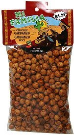 garbanzo beans spicy Mi Familia Nutrition info