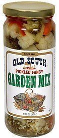garden mix pickled fancy Old South Nutrition info