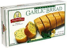 garlic bread homestyle, 2 pre-sliced loaves Mamma Bella Nutrition info