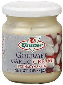 garlic cream gourmet Univer Nutrition info