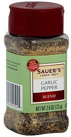 garlic pepper blend Sauers Nutrition info