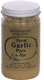 garlic pure' de ajo Great Garlic Nutrition info
