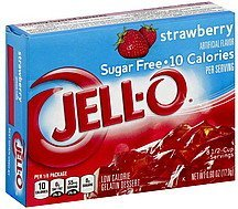 gelatin dessert low calorie, sugar free, strawberry Jell-o Nutrition info