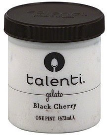 gelato black cherry Talenti Nutrition info