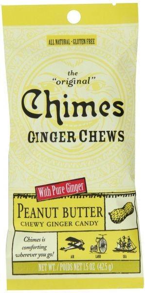 ginger chews peanut butter Chimes Nutrition info