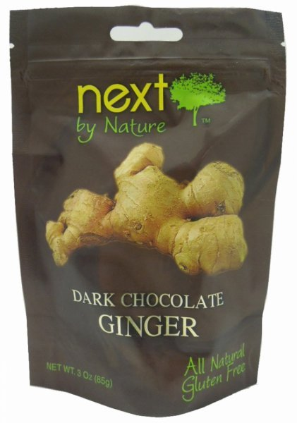 ginger dark chocolate Next by Nature Nutrition info