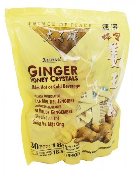 ginger honey crystals Prince of Peace Nutrition info