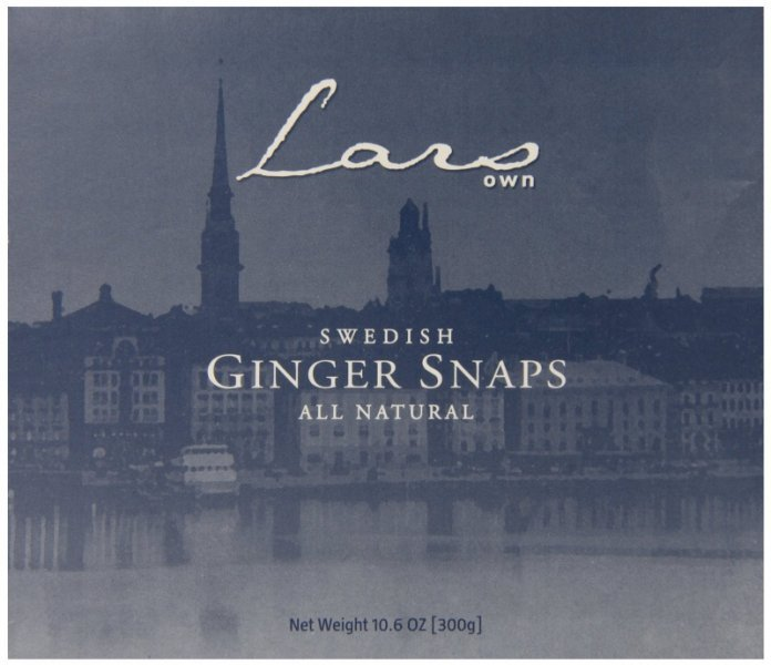 ginger snaps swedish Lars Own Nutrition info