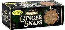 ginger snaps Carriage Trade Nutrition info