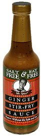 ginger stir-fry sauce fat free, salt free Mr. Spice Nutrition info