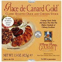 glace de canard gold More than Gourmet Nutrition info