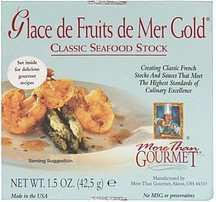 glace de fruits de mer gold More than Gourmet Nutrition info