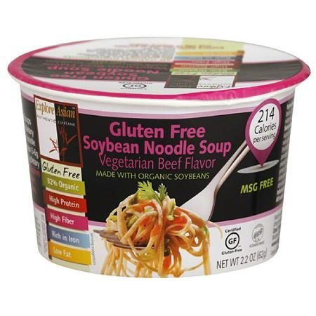 gluten free soybean noodle soup vegetarian beef flavor EXPLORE ASIAN Nutrition info