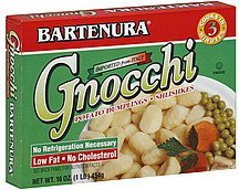 gnocchi potato dumplings Bartenura Nutrition info
