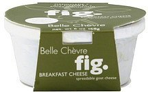 goat cheese spreadable, breakfast, fig Belle Chevre Nutrition info