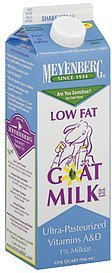 goat milk low fat Meyenberg Nutrition info
