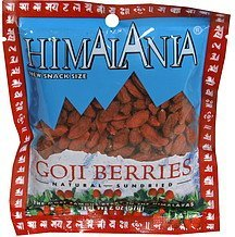goji berries natural, sundried Himalania Nutrition info