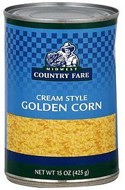 golden corn cream style Midwest Country Fare Nutrition info