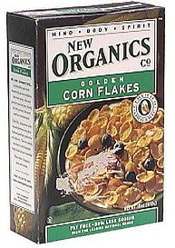 golden corn flakes New Organics Co. Nutrition info